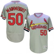 Wholesale Cheap Cardinals #50 Adam Wainwright Grey Flexbase Authentic Collection Cooperstown Stitched MLB Jersey