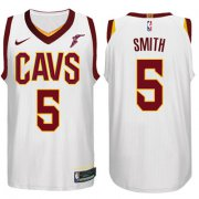 Wholesale Cheap Nike NBA Cleveland Cavaliers #5 J.R. Smith Jersey 2017-18 New Season White Jersey