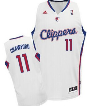 Wholesale Cheap Los Angeles Clippers #11 Jamal Crawford White Swingman Jersey