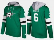 Wholesale Cheap Stars #6 Julius Honka Green Name And Number Hoodie
