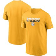 Wholesale Cheap Pittsburgh Steelers Nike Split T-Shirt Gold