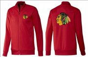 Wholesale Cheap NHL Chicago Blackhawks Zip Jackets Red