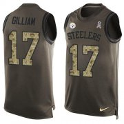 Wholesale Cheap Nike Steelers #17 Joe Gilliam Green Men's Stitched NFL Limited Salute To Service Tank Top Jersey