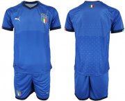 Wholesale Cheap Italy Blank Home Soccer Country Jersey