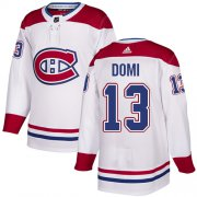 Wholesale Cheap Adidas Canadiens #13 Max Domi White Authentic Stitched Youth NHL Jersey