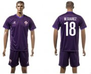 Wholesale Cheap Florence #18 M.Suarez Home Soccer Club Jersey
