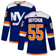 Wholesale Cheap Adidas Islanders #55 Johnny Boychuk Blue Authentic Alternate Stitched NHL Jersey