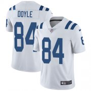 Wholesale Cheap Nike Colts #84 Jack Doyle White Men's Stitched NFL Vapor Untouchable Limited Jersey