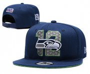 Wholesale Cheap Seahawks Team Logo Navy 2019 Draft Adjustable Hat YD