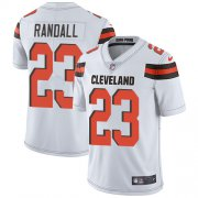 Wholesale Cheap Nike Browns #23 Damarious Randall White Men's Stitched NFL Vapor Untouchable Limited Jersey