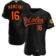Wholesale Cheap Baltimore Orioles #16 Trey Mancini Men's Nike Black Alternate 2020 Authentic Player MLB Jersey