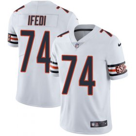 Wholesale Cheap Nike Bears #74 Germain Ifedi White Men\'s Stitched NFL Vapor Untouchable Limited Jersey
