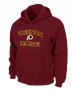 Wholesale Cheap Washington Redskins Heart & Soul Pullover Hoodie Red
