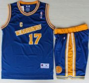 Wholesale Cheap Golden State Warriors #17 Chris Mullin Blue Hardwood Classics NBA Jerseys Shorts Suits
