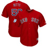 Wholesale Cheap Red Sox #50 Mookie Betts Red 2019 Spring Training Cool Base Stitched MLB Jersey
