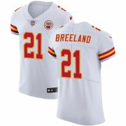 Wholesale Cheap Nike Chiefs #21 Bashaud Breeland White Men's Stitched NFL Vapor Untouchable Elite Jersey