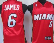 Cheap Miami Heat #6 LeBron James Red Kids Jersey