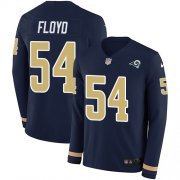 Wholesale Cheap Nike Rams #54 Leonard Floyd Navy Blue Team Color Men's Stitched NFL Limited Therma Long Sleeve Jersey