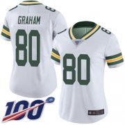 Wholesale Cheap Nike Packers #80 Jimmy Graham White Women's Stitched NFL 100th Season Vapor Limited Jersey