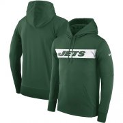 Wholesale Cheap Men's New York Jets Nike Green Sideline Team Performance Pullover Hoodie