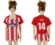 Wholesale Cheap Women's Atletico Madrid #14 Gabi Home Soccer Club Jersey