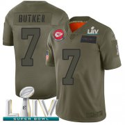 Wholesale Cheap Nike Chiefs #7 Harrison Butker Camo Super Bowl LIV 2020 Men's Stitched NFL Limited 2019 Salute To Service Jersey