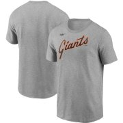 Wholesale Cheap San Francisco Giants Nike Cooperstown Collection Wordmark T-Shirt Heathered Gray