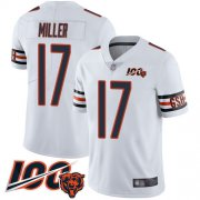 Wholesale Cheap Nike Bears #17 Anthony Miller White Men's Stitched NFL 100th Season Vapor Limited Jersey