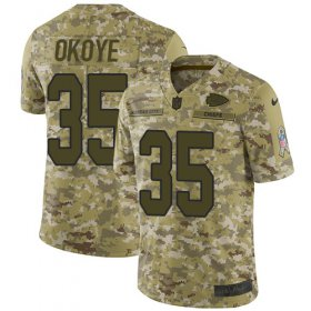 Wholesale Cheap Nike Chiefs #35 Christian Okoye Camo Men\'s Stitched NFL Limited 2018 Salute To Service Jersey