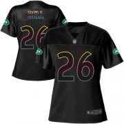 Wholesale Cheap Nike Jets #26 Le'Veon Bell Black Women's NFL Fashion Game Jersey