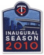 Wholesale Cheap Stitched 2010 Minnesota Twins Inaugural Season Jersey Patch