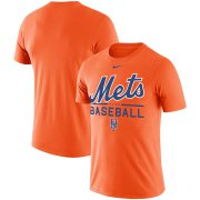 Wholesale Cheap New York Mets Nike Wordmark Practice Performance T-Shirt Orange