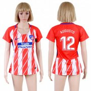 Wholesale Cheap Women's Atletico Madrid #12 Augusto Home Soccer Club Jersey