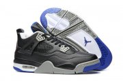 Wholesale Cheap Air Jordan 4 Motorsport Away Retro Black/Royal-Gray-White