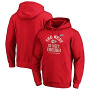 Wholesale Cheap Kansas City Chiefs NFL 2019 AFC West Division Champions Cover Two Pullover Hoodie Red