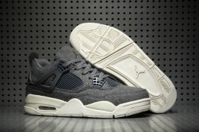 Wholesale Cheap Air Jordan 4 Wool Wolf Grey/White