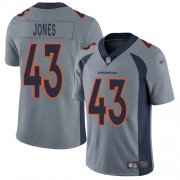 Wholesale Cheap Nike Broncos #43 Joe Jones Gray Youth Stitched NFL Limited Inverted Legend Jersey