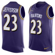 Wholesale Cheap Nike Ravens #23 Tony Jefferson Purple Team Color Men's Stitched NFL Limited Tank Top Jersey