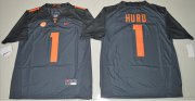 Wholesale Cheap Tennessee Vols #1 Jalen Hurd Grey Limited Stitched NCAA Jersey