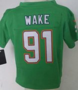 Wholesale Cheap Toddler Nike Dolphins #91 Cameron Wake Green Team Color Stitched NFL Elite Jersey