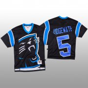Wholesale Cheap NFL Carolina Panthers #5 Teddy Bridgewater Black Men's Mitchell & Nell Big Face Fashion Limited NFL Jersey