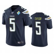 Wholesale Cheap Los Angeles Chargers #5 Tyrod Taylor Navy 60th Anniversary Vapor Limited NFL Jersey