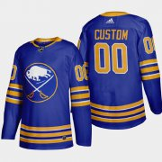 Wholesale Cheap Buffalo Sabres Custom Men's Adidas 2020-21 Home Authentic Player Stitched NHL Jersey Royal Blue