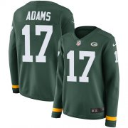 Wholesale Cheap Nike Packers #17 Davante Adams Green Team Color Women's Stitched NFL Limited Therma Long Sleeve Jersey