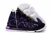 Wholesale Cheap Nike Lebron James 17 Air Cushion Shoes Black Purple