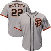 Wholesale Cheap Giants #22 Andrew McCutchen Grey New Cool Base Road 2 Stitched MLB Jersey