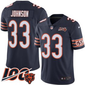 Wholesale Cheap Nike Bears #33 Jaylon Johnson Navy Blue Team Color Men\'s Stitched NFL 100th Season Vapor Untouchable Limited Jersey