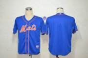 Wholesale Cheap Mets Blank Blue Alternate Home Cool Base Stitched MLB Jersey