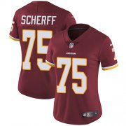 Wholesale Cheap Nike Redskins #75 Brandon Scherff Burgundy Red Team Color Women's Stitched NFL Vapor Untouchable Limited Jersey