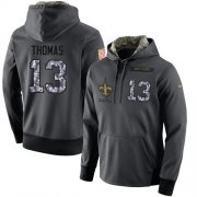 Wholesale Cheap NFL Men's Nike New Orleans Saints #13 Michael Thomas Stitched Black Anthracite Salute to Service Player Performance Hoodie